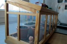 DIY natural wood greenhouse