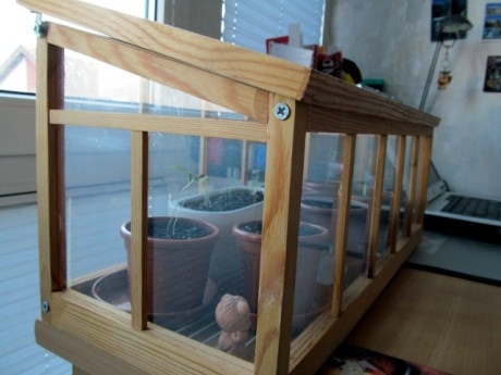 DIY natural wood greenhouse (via blacklemag.com)