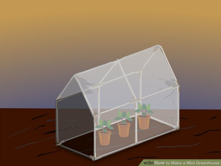DIY mini greenhouse for indoors (via www.wikihow.com)