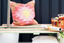 DIY pallet and planters bench