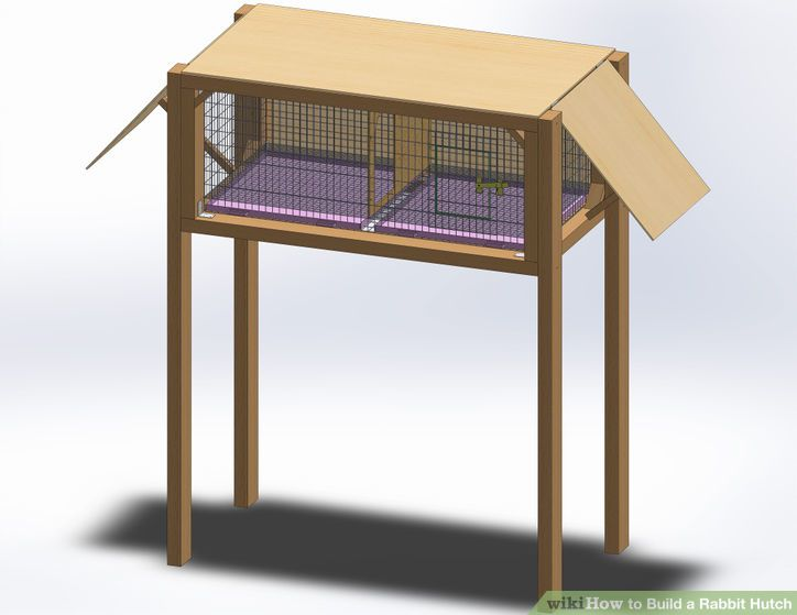 How to build a rabbit hutch (via www.wikihow.com)