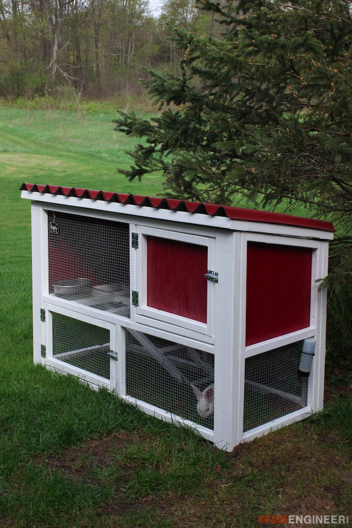 10 diy rabbit cages and hutches for your fluffy friends for Diy hutch plans