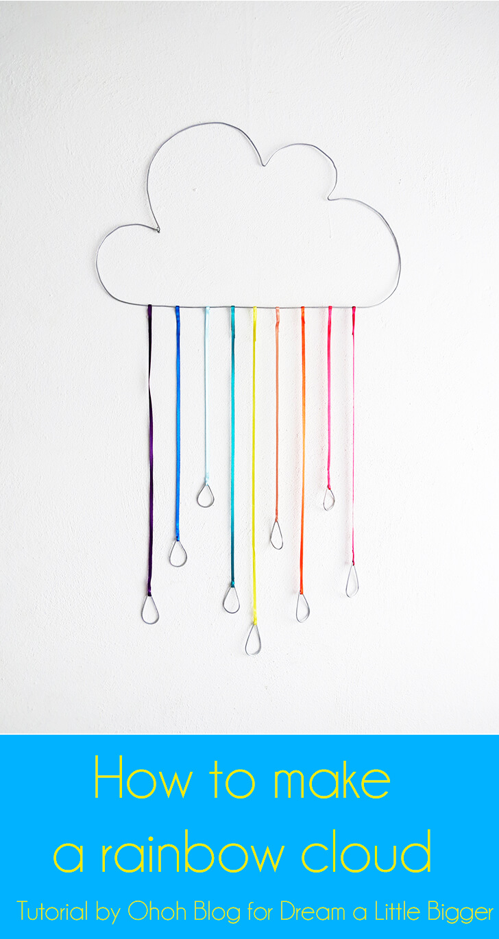 DIY rainbow cloud with ribbons (via www.dreamalittlebigger.com)