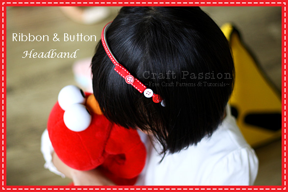 DIY ribbon button headband