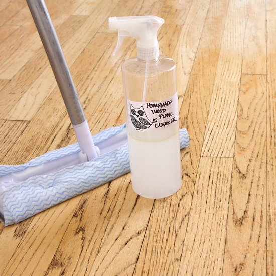 DIY wood floor cleaner (via www.popsugar.com) - 10 DIY Wood Floor Cleaners Of Various Ingredients - Shelterness
