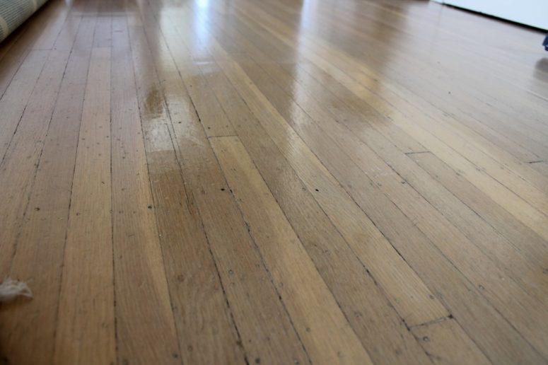 DIY wood floor polish (via https:)