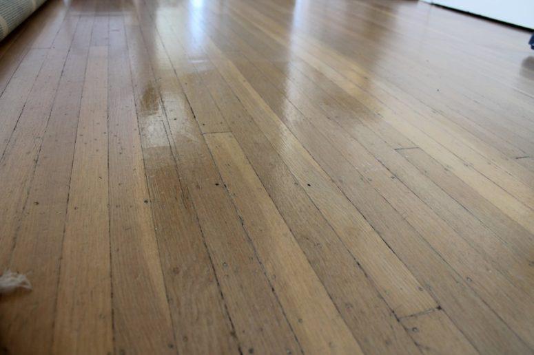 DIY wood floor polish (via https:)