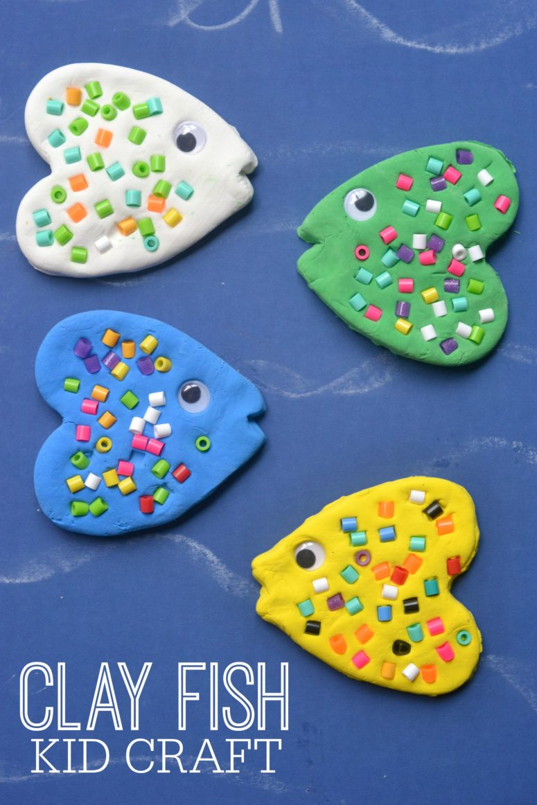 DIY clay fish craft for kids (via https:)
