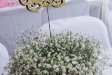 02 a baby's breath centerpiece with ultra sound
