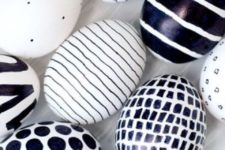 02 a black Sharpie is the only tool you need to create these eggs in whatever bold graphic you like