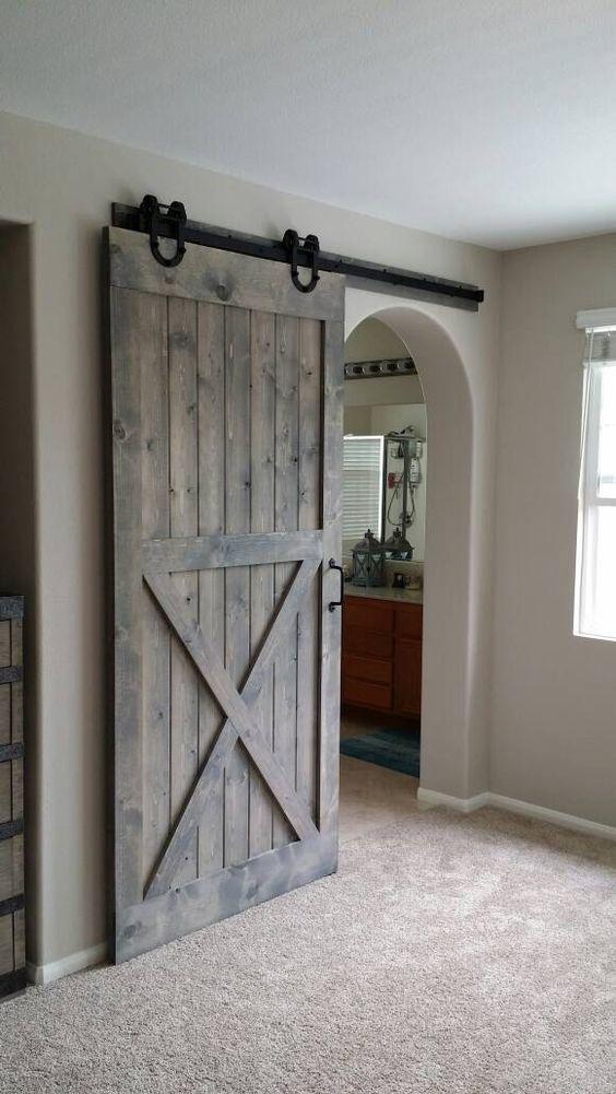half X sliding door for a modern space