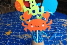 04 under the sea centerpiece with sea creatures of paper