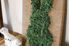 moss easter decor idea