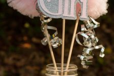 10 a glitter mason jar with letter props and pompoms