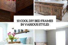 10 cool diy bed frames in various styles cover