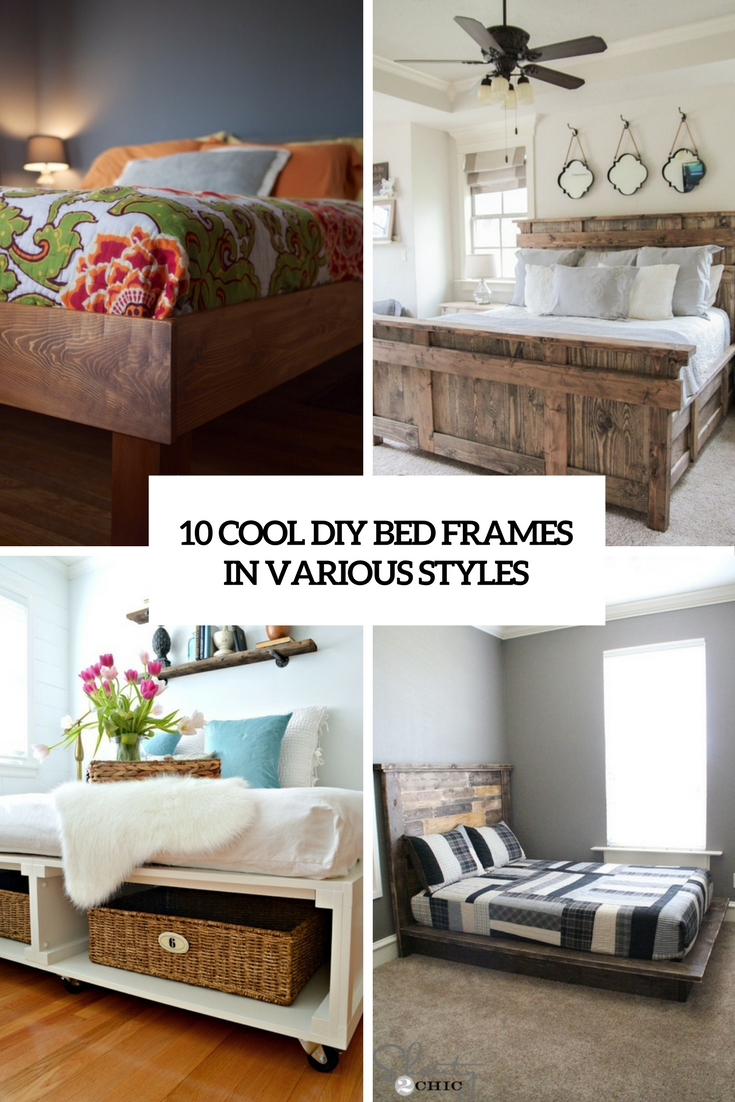 cool diy bed frames in various styles cover