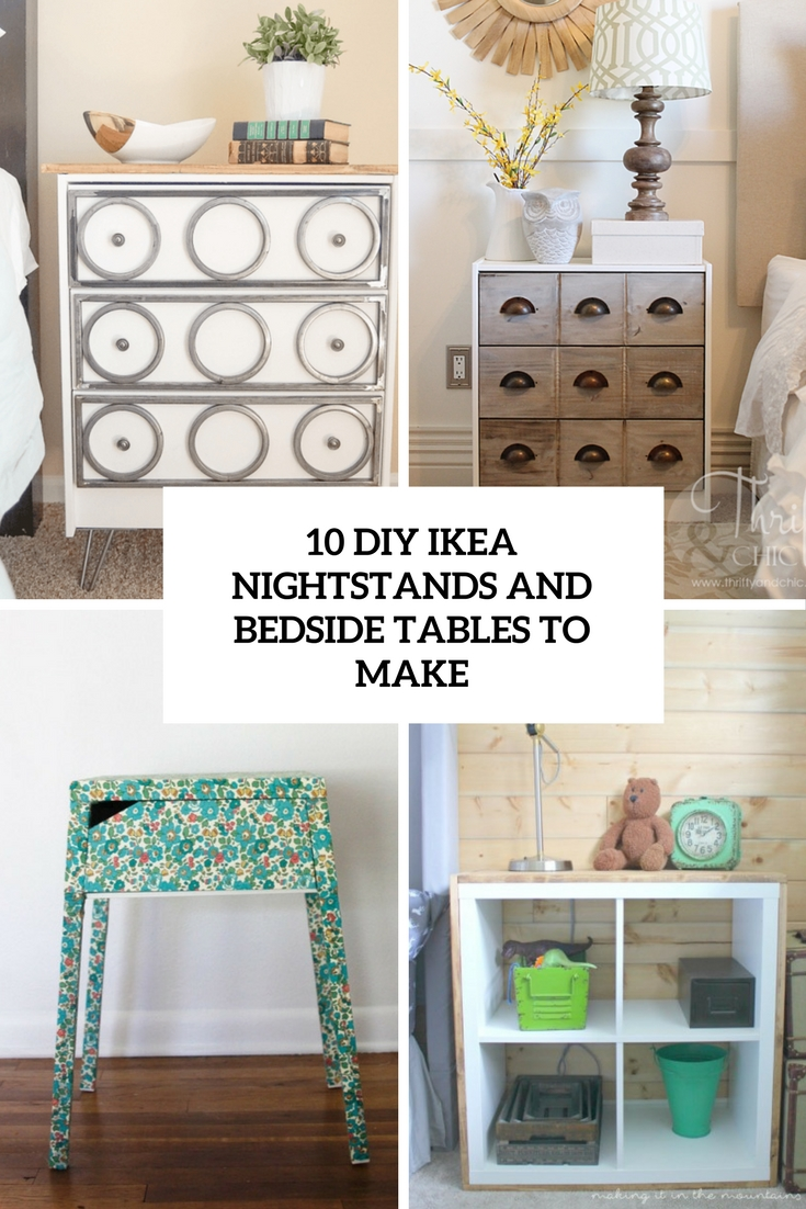 10 diy ikea nightstands and bedside tables to make - shelterness Make Bedside Table