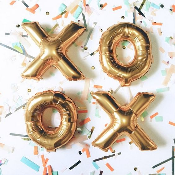 gold XO balloons are amazing for any kind of girls' party
