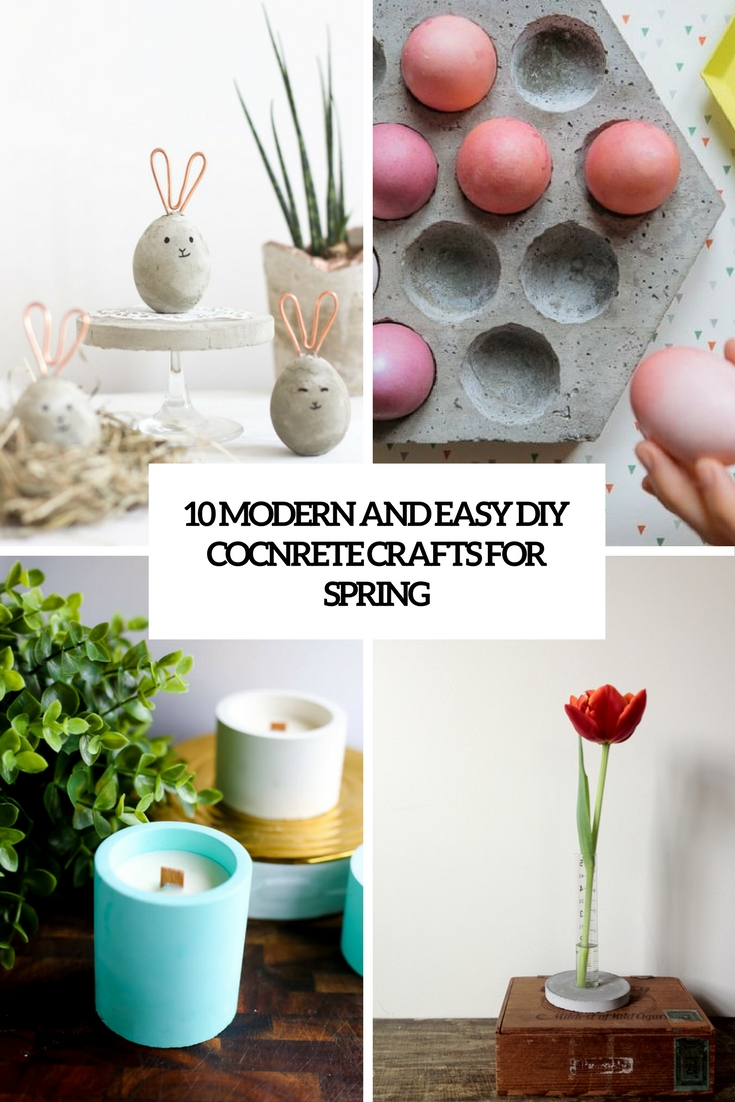 modern and easy diy concrete crafts for spring cover