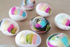 11 brushstroke Easter eggs in bold shades