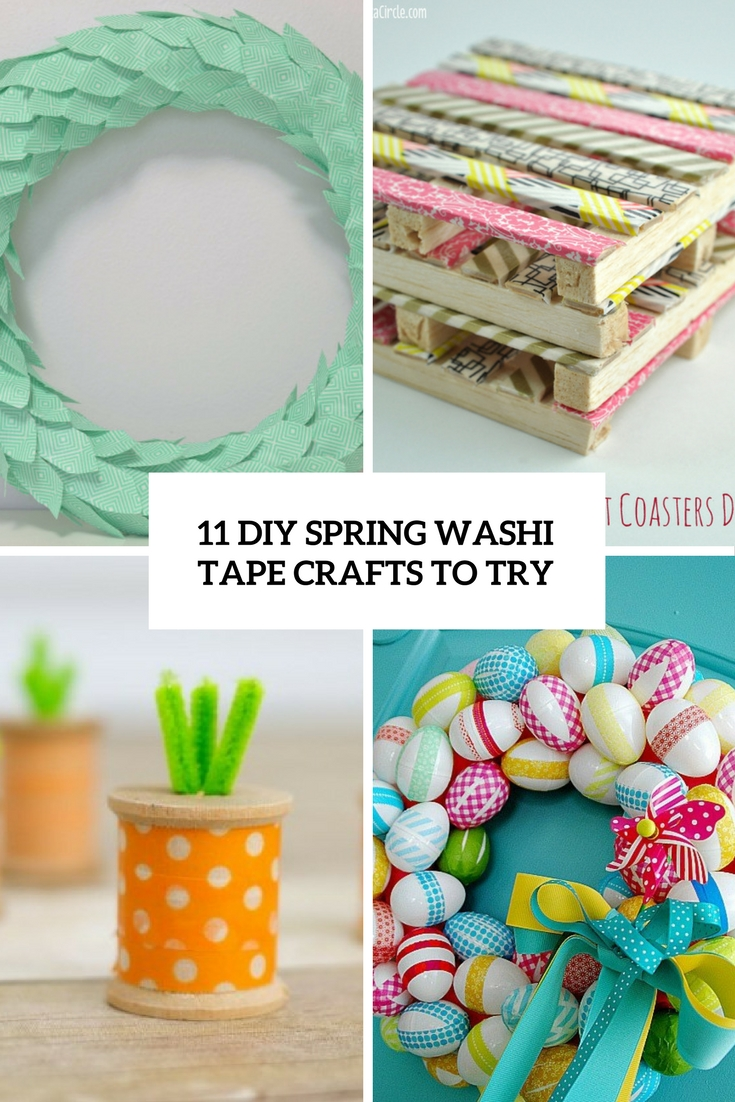 11 diy spring washi tape crafts to try shelterness. Black Bedroom Furniture Sets. Home Design Ideas