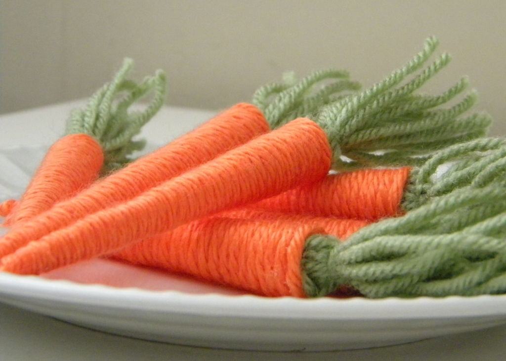 DIY spring baby carrots for Easter decor