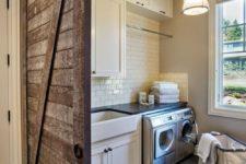 11 reclaimed barn door to add a farmhouse touch