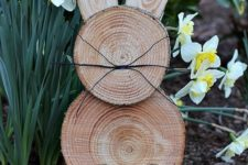 12 a rustic wood slice Easter bunny is a perfect craft to bring a little Easter decor to your yard