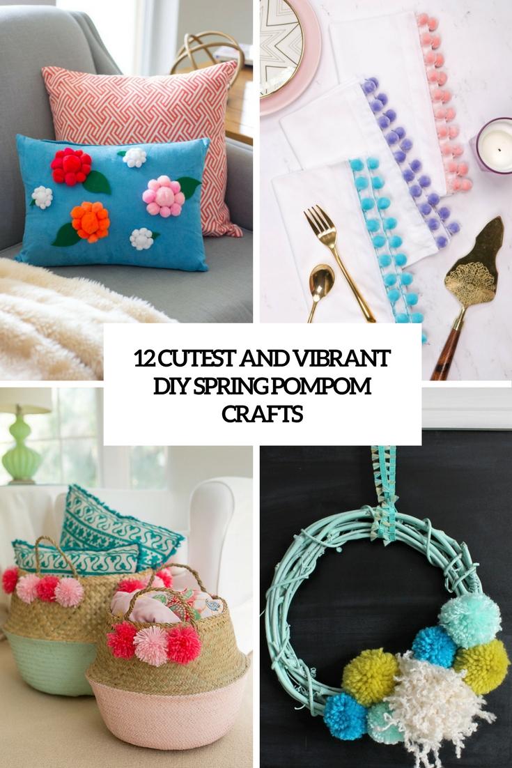 cutest and vibrant diy spring pompom crafts cover