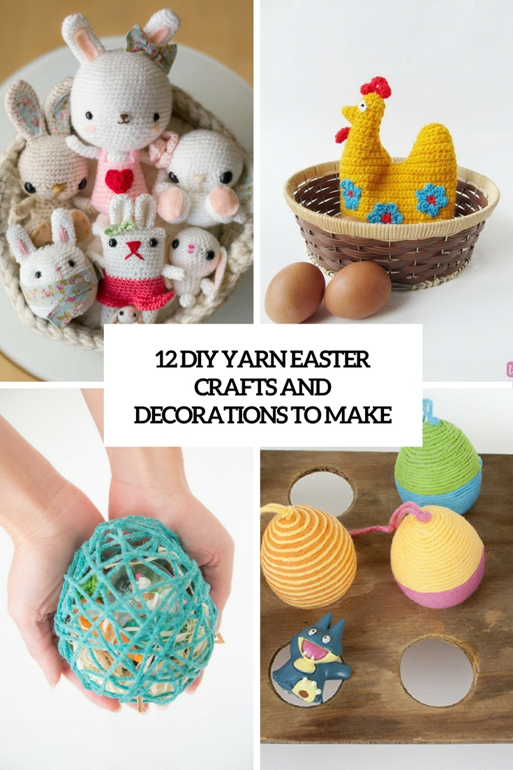 diy yarn easter crafts and decorations to make cover
