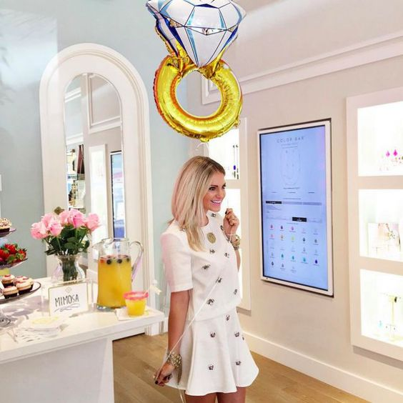 giant diamond ring balloon for the bride