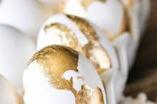 13 gold foil egg decor for Easter