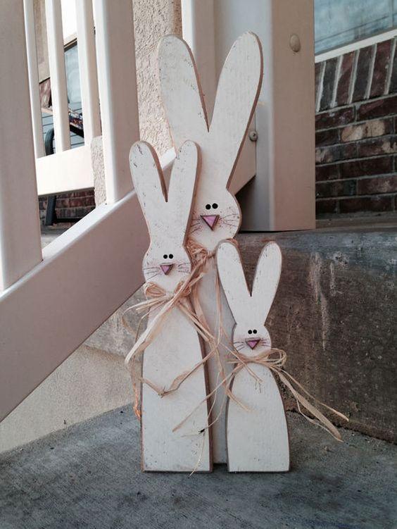 Um combo rústico-olhando de sinais bonitos do coelho