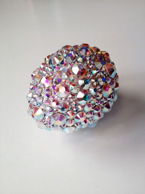 rhinestone Easter eggs are awesome for party decor