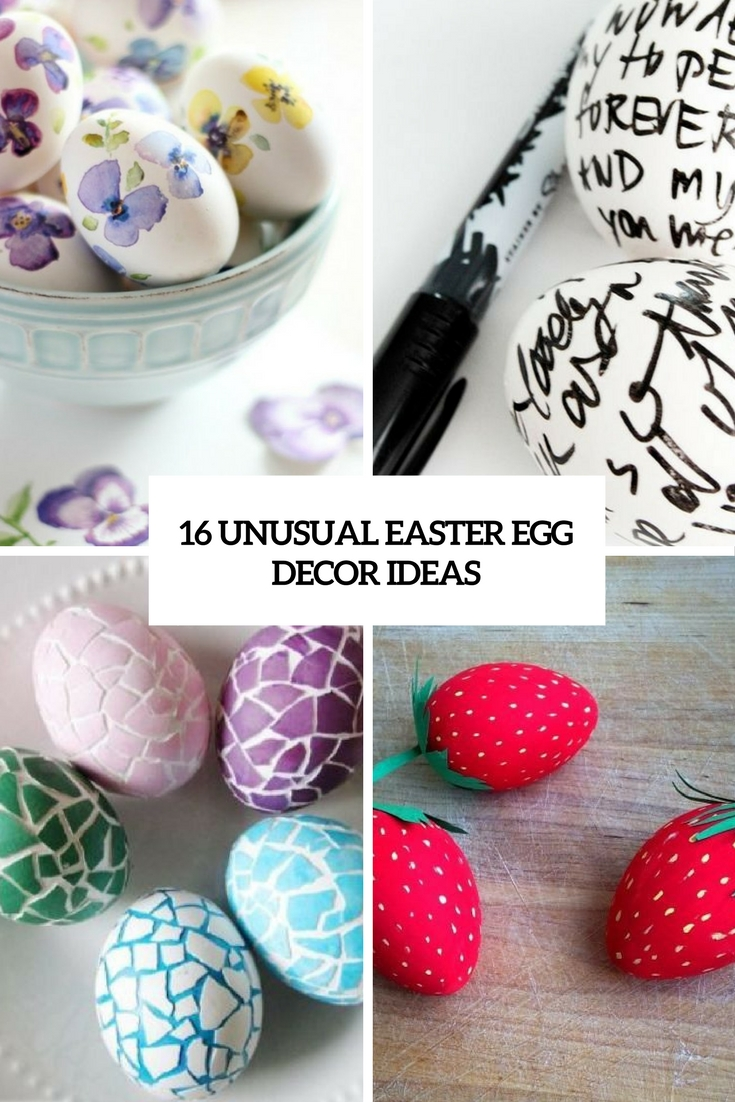 16 Unusual Easter Egg Décor Ideas