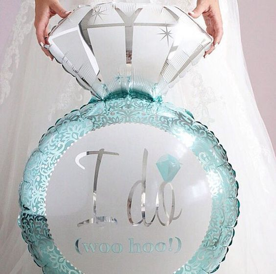 diamond engagement ring balloon