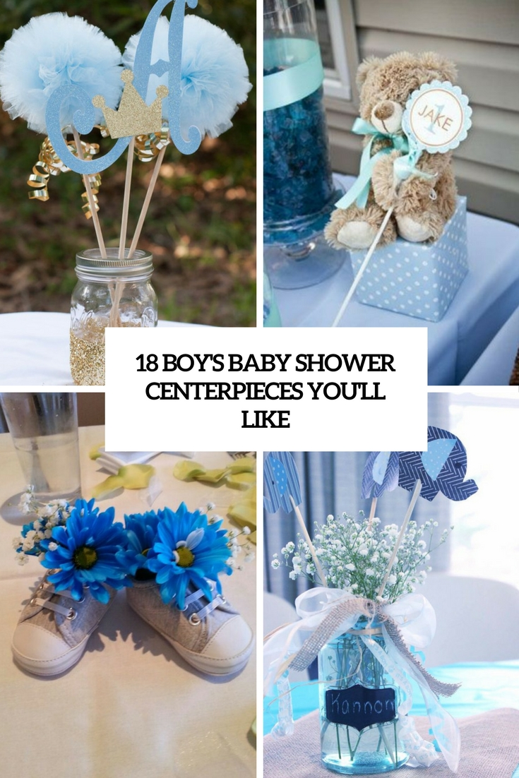 18 boys baby shower centerpieces you ll like shelterness for Baby shower centerpiece decoration
