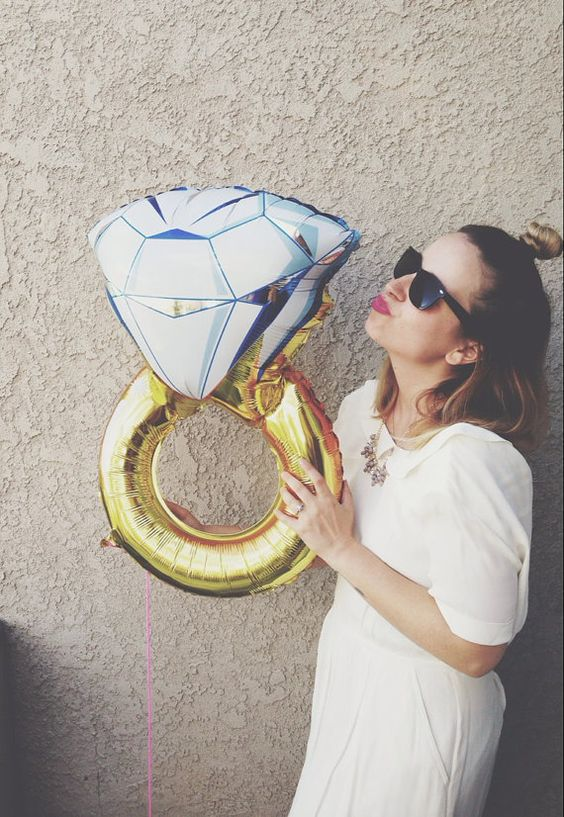 giant engagement ring balloon for a party