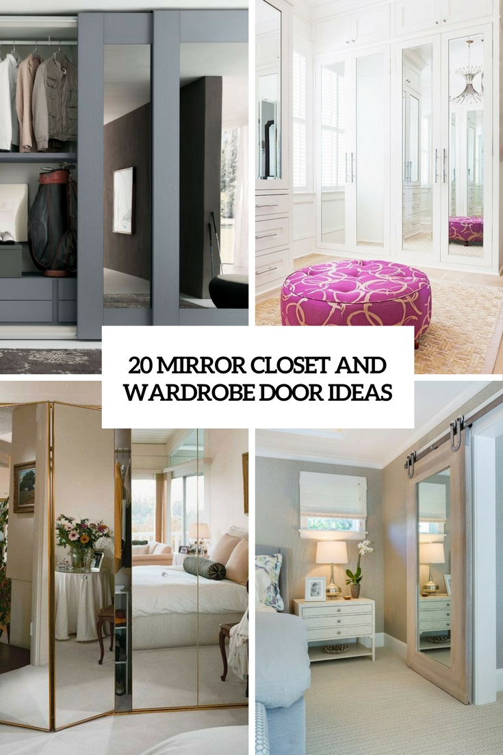 How To Cover Mirrored Closet Doors 20 Mirror Closet And Wardrobe Doors Ideas Shelterness