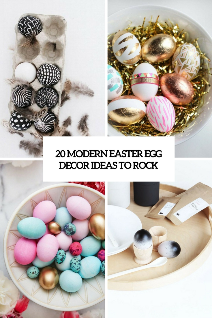 Cute Diy Home Decor Ideas: 20 Modern Easter Egg Décor Ideas To Rock