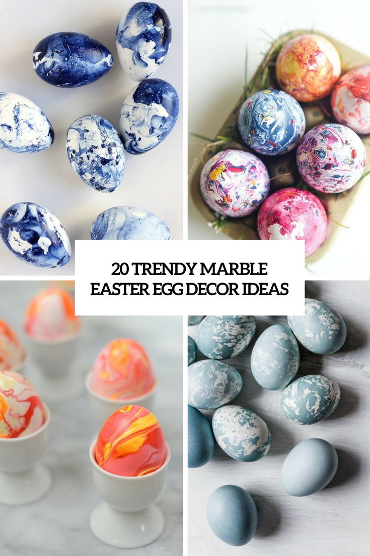 20 Trendy Marble Easter Egg Décor Ideas