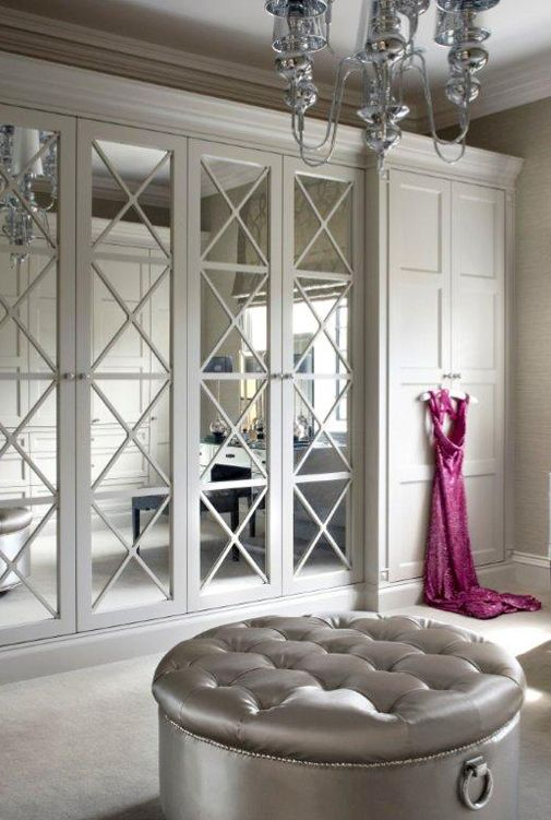 stunning framed mirror doors for the closet are practical and beautiful