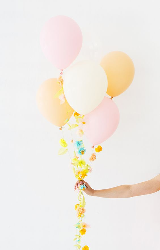 what can be better for a girl's birthday than flower balloons