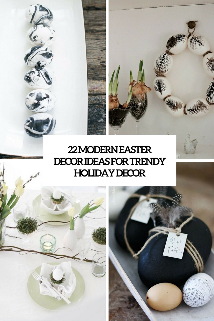 modern easter decor ideas for trendy holiday decor cover