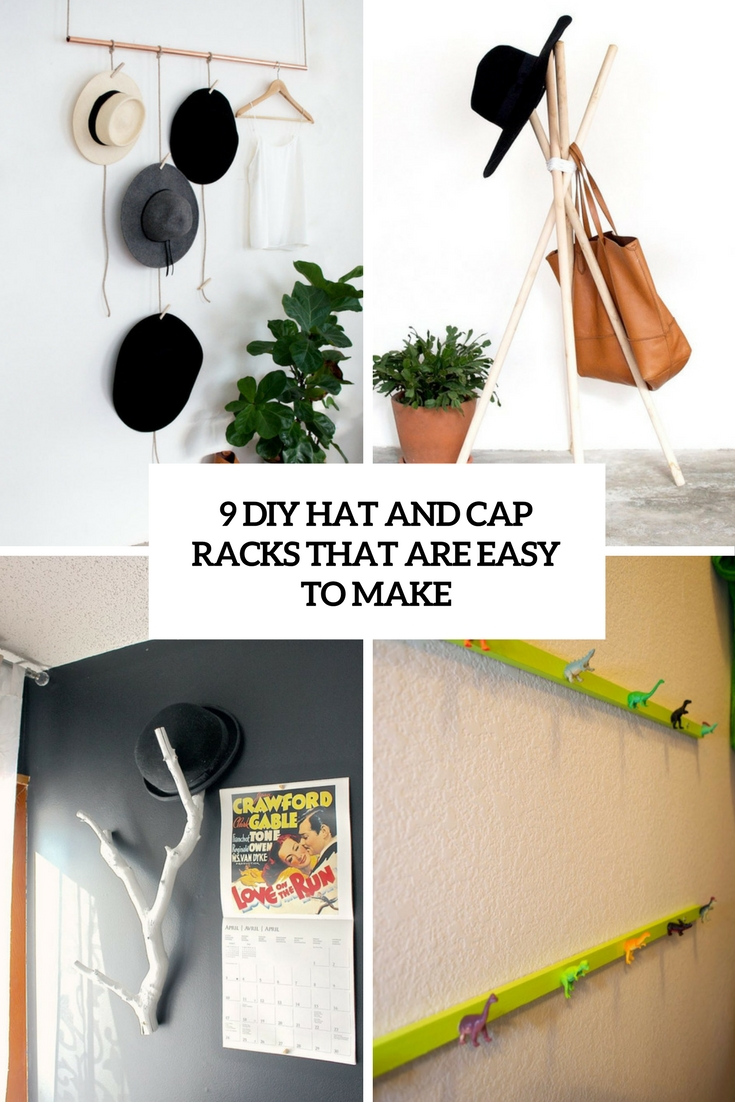 9 diy hat and cap racks that are easy to make cover