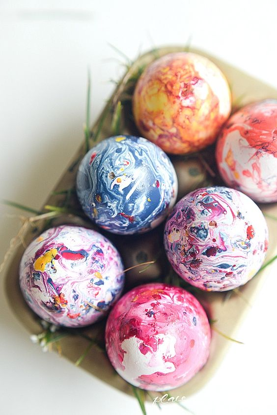 bold Easter egg decor is a great idea, and your kids will like it