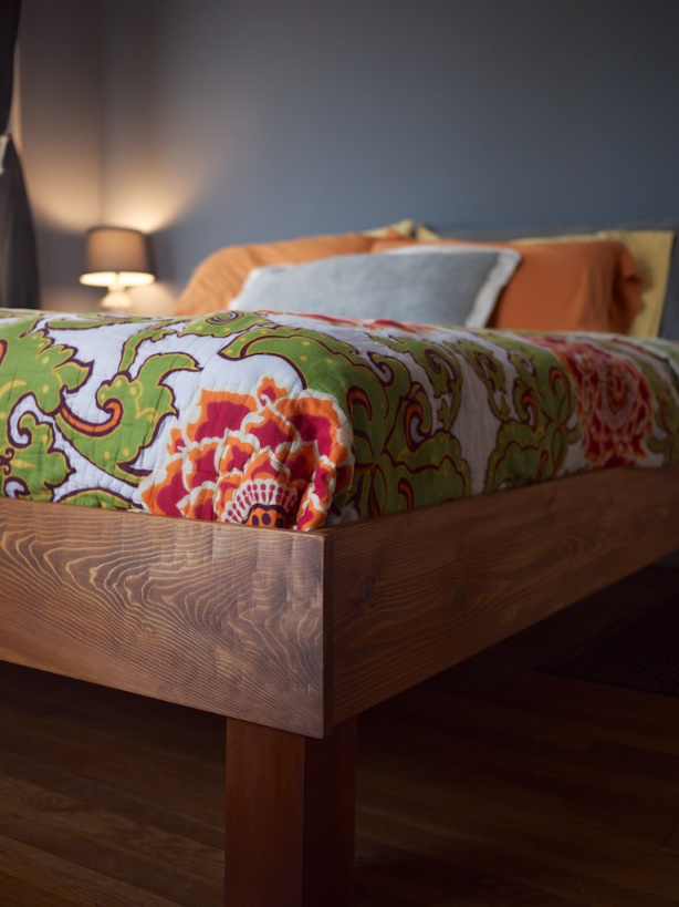 DIY king size slat bed (via https:)