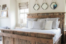 DIY rustic king size bed