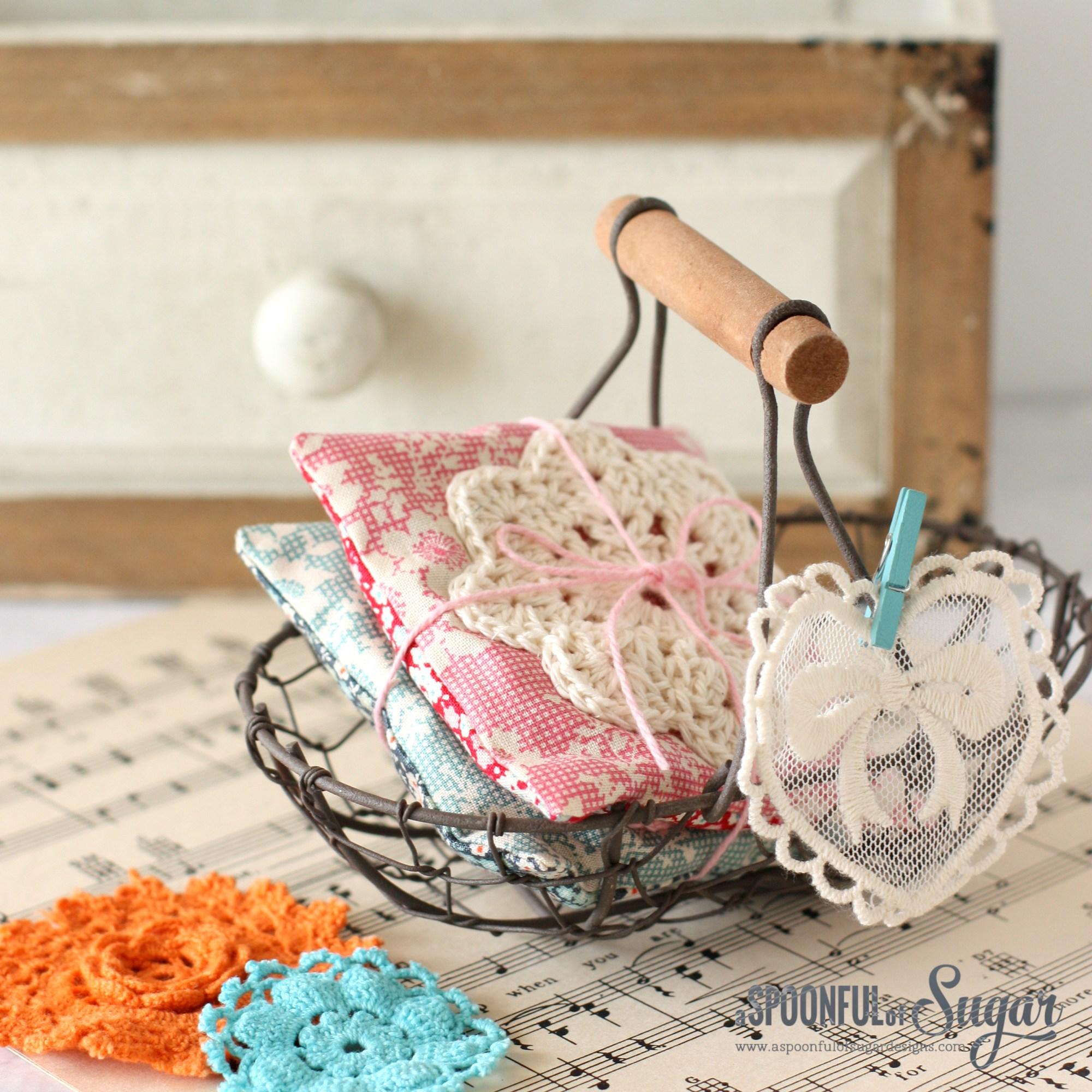 DIY lavender lace sachets