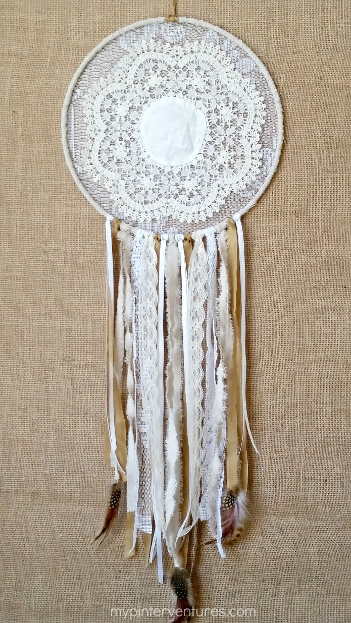 DIY vintage doily dream catcher (via mypinterventures.com)